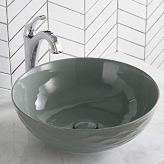 Kraus KCV-200GGR Viva Bathroom Vessel Sink, Grey