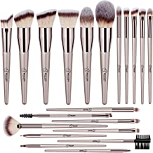 BESTOPE 20 PCs Makeup Brushes Premium Synthetic Foundation Powder Concealers Eye Shadows Makeup Brush Set with Champagne Gold Conical Handle