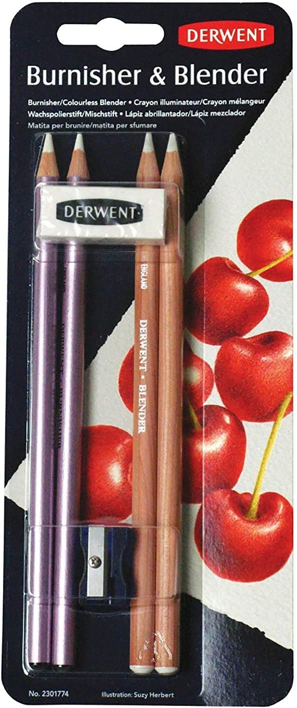 Derwent Super Special SALE held Special Campaign Blender and Burnisher Pencil Drawing Set Art Supplies