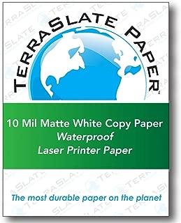 TerraSlate Copy Paper Waterproof Laser Printer, Rain Weatherproof, 10 MIL, 8.5x11-inch, 25 Sheets