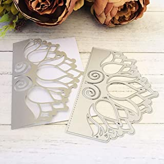 Fogun Couverture d'invitation de Bourgeon de Fleur Matériel Dies de decoupe Scrapbooking, DIY Album de Scrapbooking Outil ...