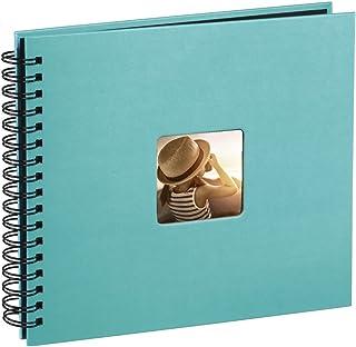 """Hama Album Photo """"Fine Art"""" (format 36 x 32 cm, 50 pages noires, à spirale) Turquoise"""