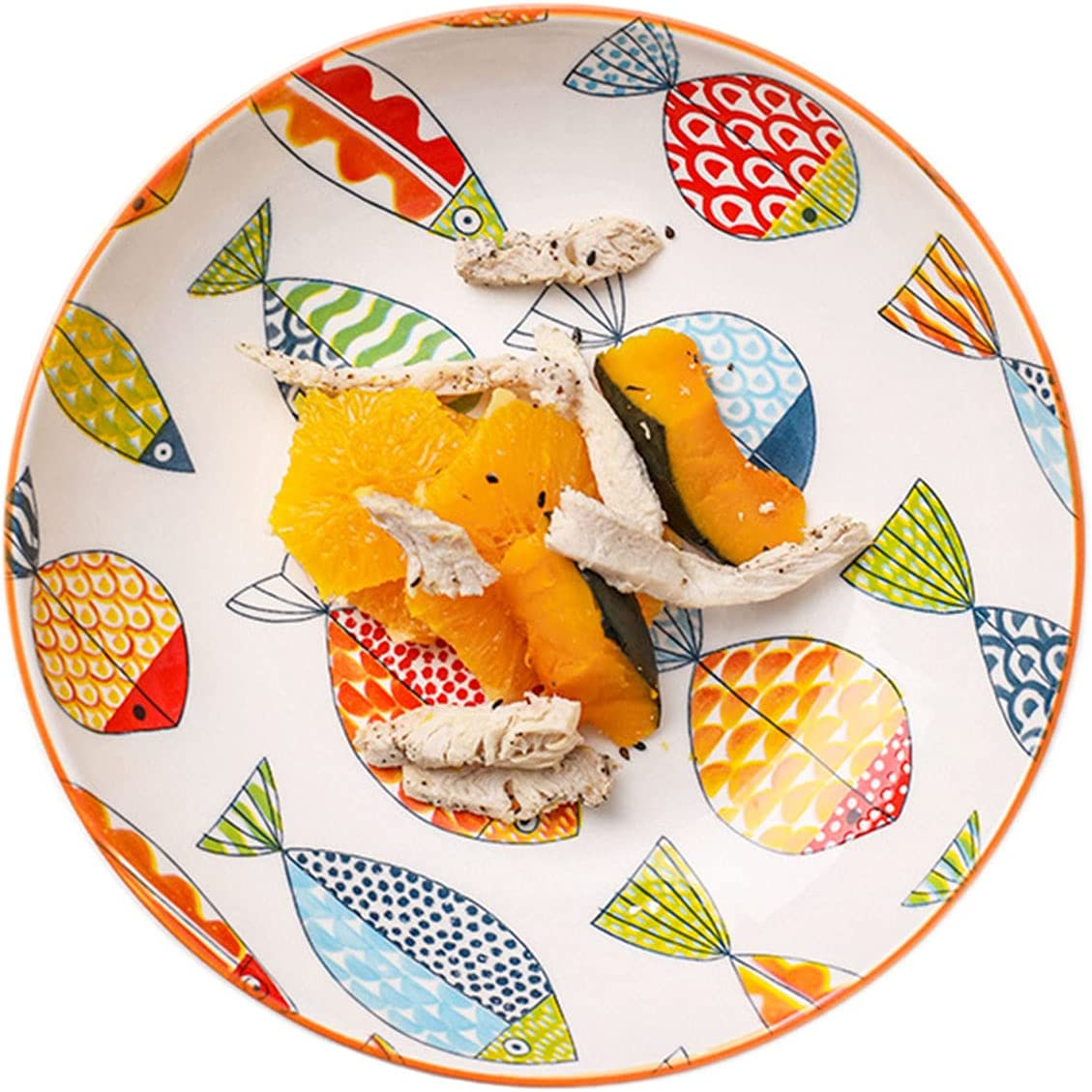 Fashion Sizikato Pumpkin Striped Porcelain Des Plate New product!! 7-Inch Snack