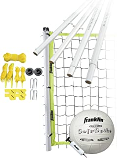 Franklin Sports Volleyball Set - Beach and Backyard Volleyball Net Set - Portable Volleyball Net and Ball Set with Poles and Ground Stakes - Advanced