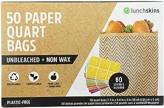 Lunchskins Bolsas de papel Cheveron tamaño cuarto de galón – 50 unidades por paquete – 12 paquetes por caja.