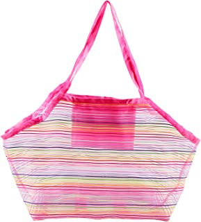 CHOSMO Mesh Beach Bag Extra Large Beach Bags and Tote Backpack Toys Towels Sand Oxford Cloth Bag, Quick Dry Waterproof Sho...