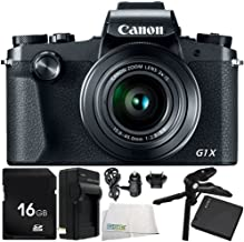 Canon PowerShot G1 X Mark III Digital Camera 6PC Accessory Bundle – Includes 16GB SD Memory Card + Replacement Battery + More - International Version (No Warranty)