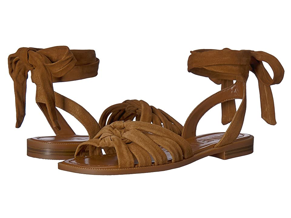 Nine West Xameera Wrap Sandal (Brown Suede) Women