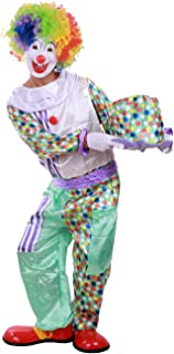 Honeystore Unisex Circus Cute Clown Outfit Couple Jester Funny Halloween Costume