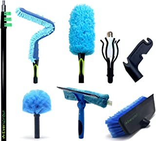 EVERSPROUT Extension Pole Total Kit (30+ Foot Reach) | Telescopic Pole, Scrub Brush, Light Bulb Changer, Utility Hook, Swi...