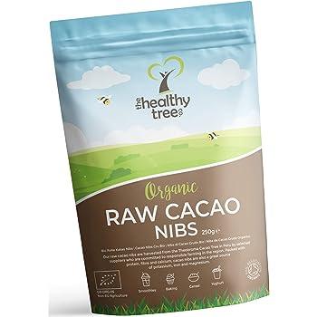 TheHealthyTree Company Granos de Cacao Crudo Orgánico - Magnesio ...