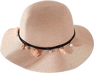 WN - Sombrero - Sombrero de Paja para Mujer Verano Plegable Pequeño y Fresco Sombrero para el Sol Sombrero de Playa para Las Vacaciones de Vacaciones al Aire Libre (4 Colores) Sombrero para Mujer
