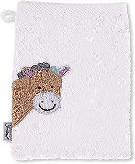 Sterntaler Tvätthandske Pony Pauline, storlek: 21 x 15 cm, vit