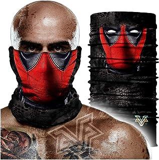 Pañuelo sin costuras,Turbante Mágico Deadpool Venom, Mascarilla Deportiva Para Montar, Turbante Protector Solar Transpirable 24 * 48cm A
