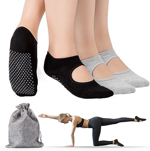 Calzini Yoga Calze Antiscivolo A 5 Dita In Cotone Plastica 5-Toe Infradito Sock