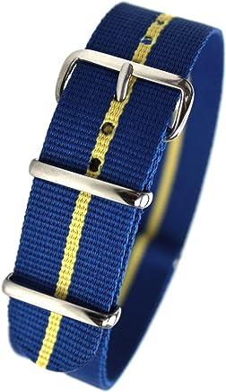 eb704a5ff32 HDT Design N.A.T.O. Type Nylon Watch Strap Blue   Yellow  20mm