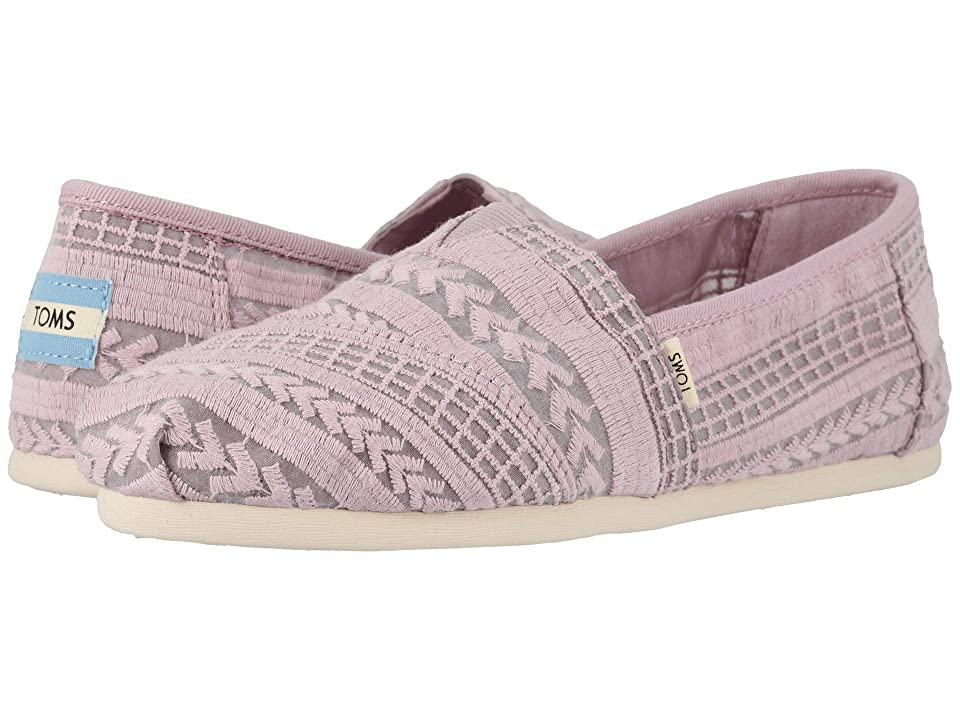 3b5454d3bd6 TOMS Alpargata (Burnished Lilac Arrow Embroidered Mesh) Women s Shoes