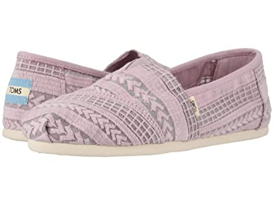 TOMS Alpargata (Burnished Lilac Arrow Embroidered Mesh) Women