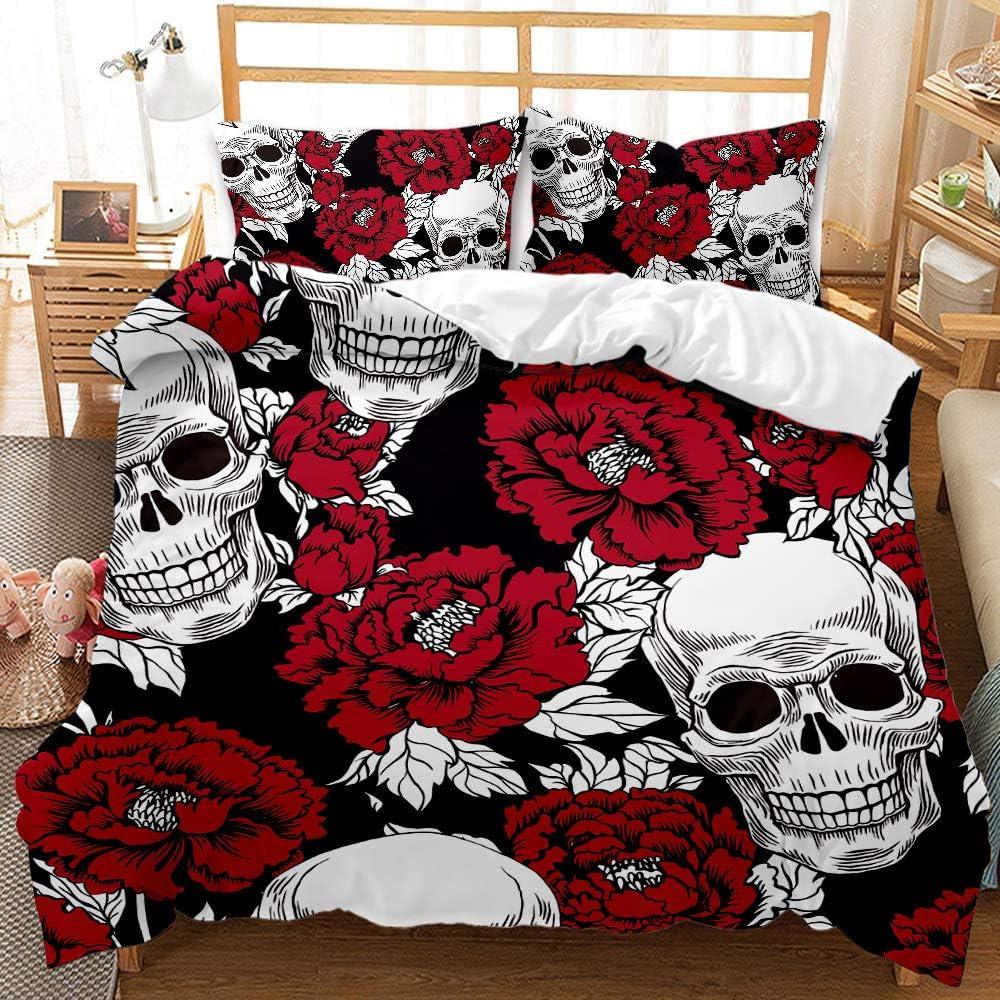 Sugar Skull Comforter Cover 至高 Set Girl アウトレットセール 特集 Full Bedding Size Teen