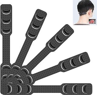 [5 PCS]Strap Extenders for Face Mask,Comfortable Mask Extension Hook Band,Adjustable Strap Holder Buckle to Relief Ear Pain,Ear Protector Belt Strap Hook for Mask(Black)