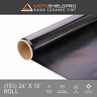 Motoshield Pro Ceramic Tint Film [Blocks Up to 99% of UV/IRR Rays] 24 Inches x 10 Feet - Window Tint Film Roll (15%)