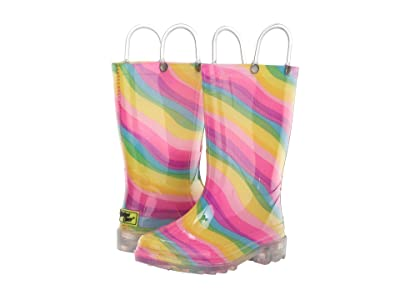 Western Chief Kids Lighted Rain Boots (Toddler/Little Kid) (Rainbow Multi) Girls Shoes