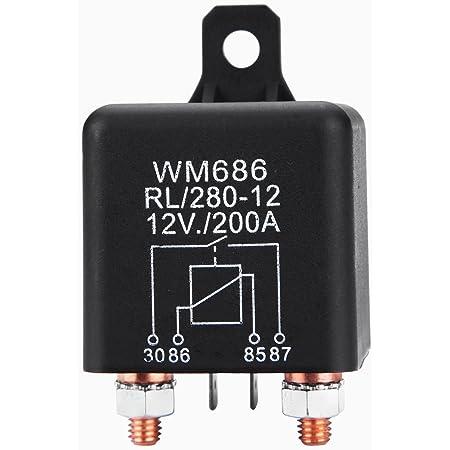 Fafada Rl 280 12 Batterie Trennrelais 12v 200a Spitzenlast Batterietrennrelais Auto Pkw Boot Camping Wohn Auto