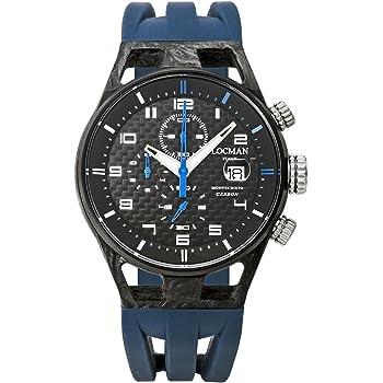 [ロックマン] 腕時計 MONTCRISTO CARBON 0545C09S-CBCBWHSB メンズ 正規輸入品 ブルー