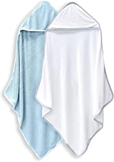Bamboo Queen 2 Pack Bamboo Baby Bath Towel - Ultra Absorbent - Ultra Soft Hooded Towels for Kids - X Large Size for 0-7 Yr...