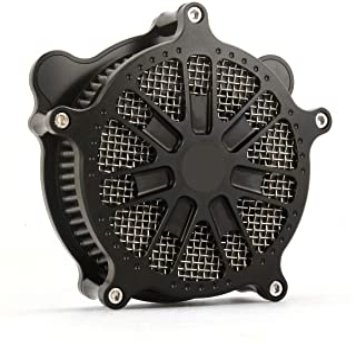 Motociclo Filtro aria nero turbina Filtro aspirazione grigio Copertura calza antipioggia adatta per Harley 1991-2003 XLH883 Sportster XL883 XL1200 IRON 883 1991-2020