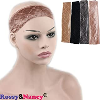 Rossy&Nancy Makeup Velvet Headband Comfort Wig Grip Scarf Head Hair Band Adjustable Fastern for Women (Brown)