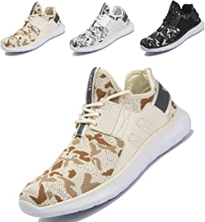 Men's Fashion Trainers Comfortable Athletic Sneakers Lightweight Knit Running Walking Shoes