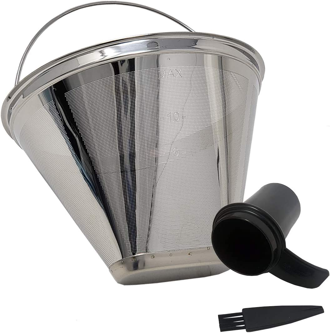 GOLDTONE Max 75% OFF Stainless Steel Coffee sale Filter Cone No.4 Permane Style -