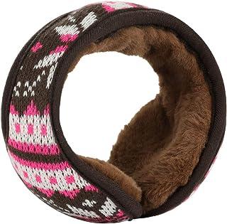 uxcell® Winter Knit Earmuffs for Women Men Warm Foldable Fleece Plush Outdoor Earwarmers
