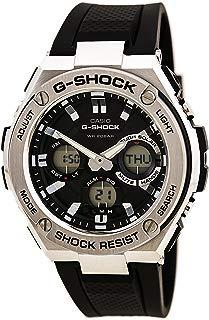 Casio Men's G Shock Stainless Steel Quartz Watch with Resin Strap, Black, 26.8 (Model: GST-S110-1ACR)