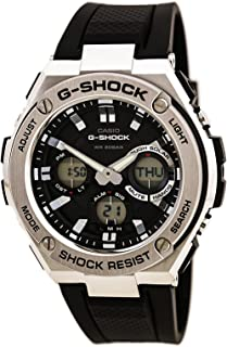 Men's G Shock Stainless Steel Quartz Watch with Resin Strap, Black, 26.8 (Model: GST-S110-1ACR)