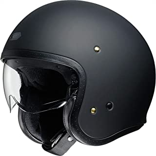 Shoei J-O Solid Men's Street Motorcycle Helmet - Matte Black/Large