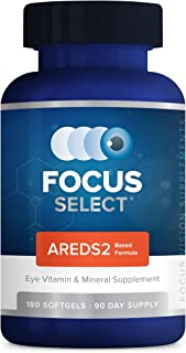 Sponsored Ad - Focus Select® AREDS2 Based Eye Vitamin-Mineral Supplement - AREDS2 Based Supplement for Eyes (180 ct. 90 Da...