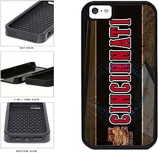BleuReign(TM) Hashtag Cincinnati #Cincinnati Baseball Team 2-Piece Dual Layer Phone Case Back Cover For Apple iPhone 5 5s