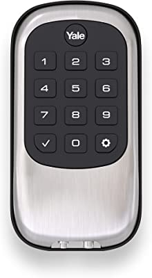 Yale Security Real Living Keyless Push Button Deadbolt With Z-Wave, Satin Nickel