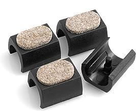 Design61 Lot de 10 bouchons de tuyau carr/és avec lamelles pour diam/ètre int/érieur 16-17 mm 20 x 20 mm
