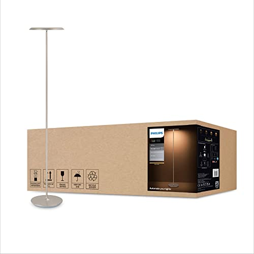 Philips Hue White Muscari Smart LED Floor Lamp (Compatible with Amazon Alexa, Apple HomeKit, and Google Assistant)