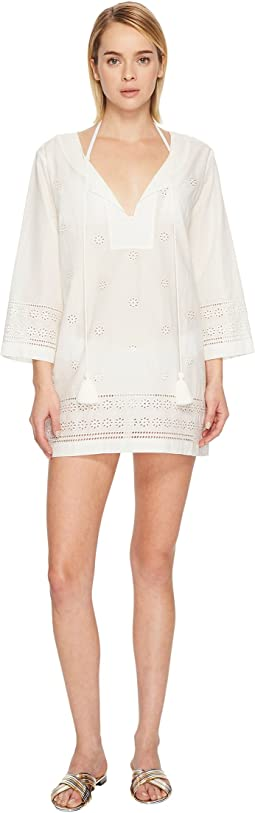 Kate Spade New York Isla Vista #74 Embroidered Tunic Cover-Up