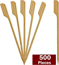 Blue Donuts 500 Pack Bamboo Paddle Skewers 7 Inch – Wooden Kabob Skewers for Appetizers, Fruits, Cocktail Picks, BBQ Grilling Accessories