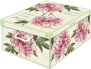 Collection Peonie, Caja de almacenaje en Carton, Montaje facil 50 x 39 x 24 cm, 50x39x24 cm