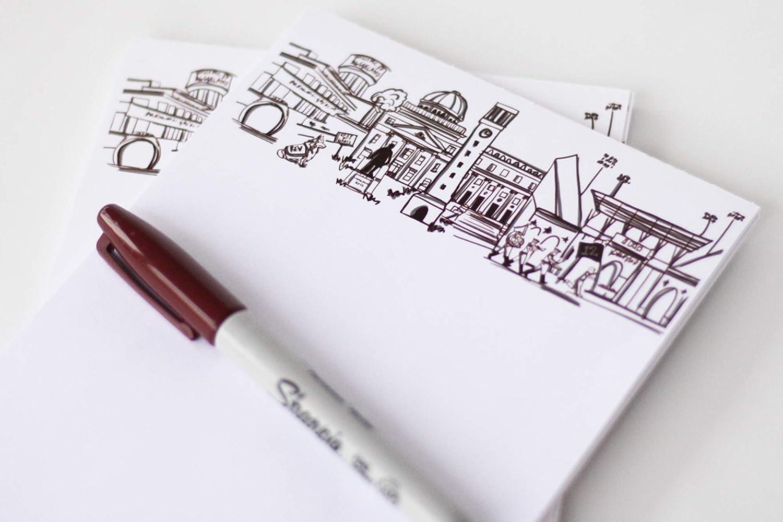 Personalized Notepad Set {Texas 4 years warranty AM University Campus Genuine La Skyline