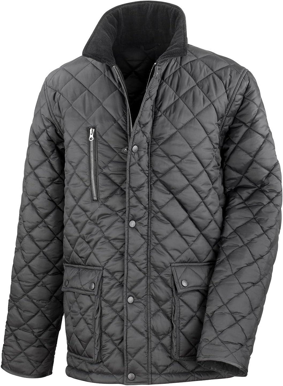 Result Cheltenham – Chaqueta acolchada para hombre, con forro polar en el interior, impermeable, resistente al viento