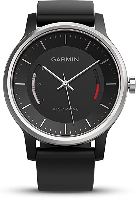 Garmin vivomove Sport NA Black with Sport Band,Smartwatches