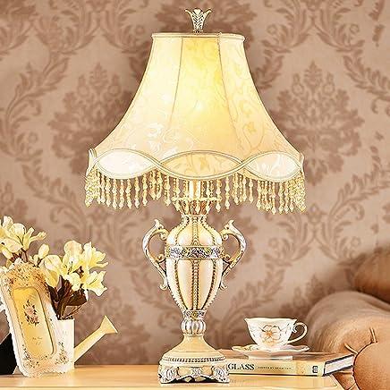 MILUCE コンチネンタルベッドルームベッドサイドランプクリエイティブファッションレトロリビングルームランプ装飾テーブルランプ