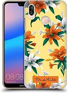 Official Frida Kahlo Orange Lilies Flowers Hard Back Case Compatible for Huawei P20 Lite